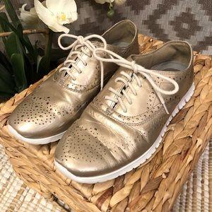Cole Haan Rose Gold Zero Grand Oxford Sneaker Shoe